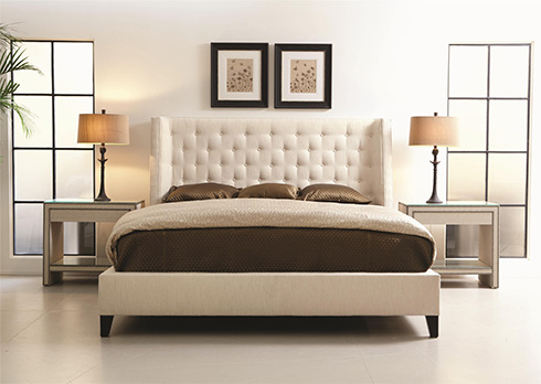 Maxime Upholstered Bed by Bernhardt at Belfort Furniture