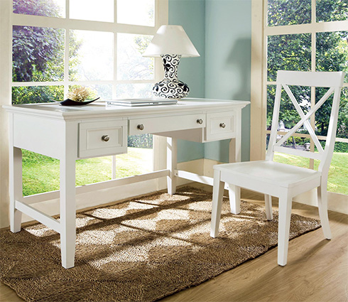 Oslo White Writing Desk at Belfort Furniture