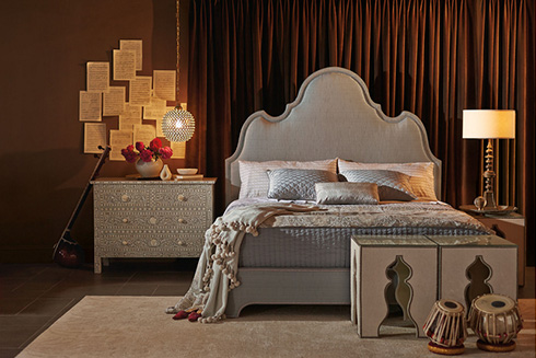 Palatino Upholstered Bed by Bernhardt at Belfort Furniture
