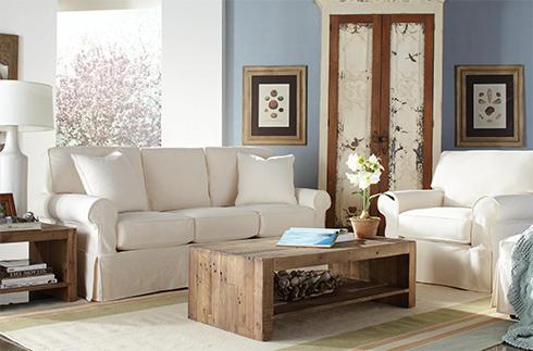 Rowe Nantucket Slipcover Sofa at Belfort Furniture