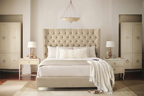 Salon Upholstered Bed by Bernhardt at Belfort Furniture