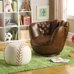 Baseball Chair and Ottoman at Belfort Furniture