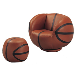 Basketball Chair and Ottoman at Belfort Furniture