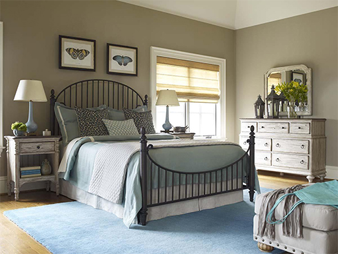 Weatherford Metal Bed at Belfort Furniture