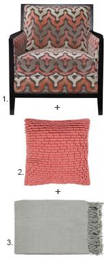 Chair + Pillow + Throw 1,2,3