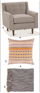 Chair + Pillow + Throw 4,5,6