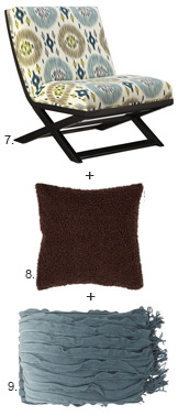 Chair + Pillow + Throw 7,8,9