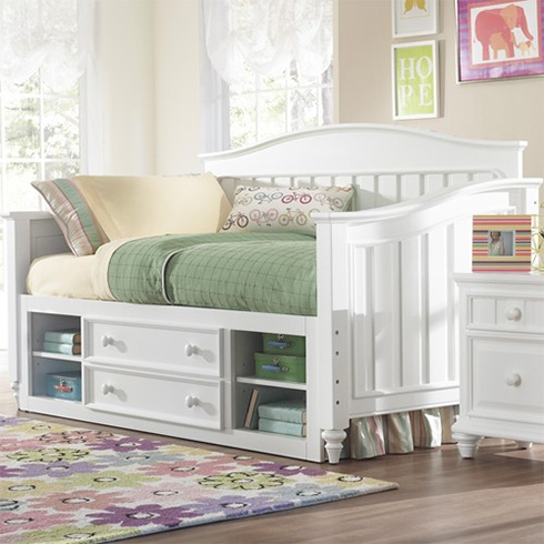 Campbell White Daybed with Underbed Storage at Belfort