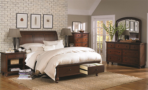 Cambridge-Brown-Cherry-Storage-Bed