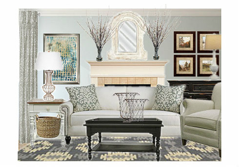 A Farmhouse Chic Living Room Belfort Buzz Furniture And Design Tips