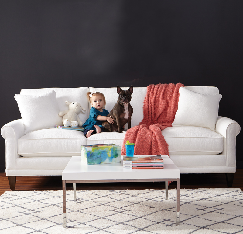 Crypton - Everyone is welcome on the furniture, even the dog with Crypton performance fabrics. You can cuddle up with your furry friend beaucse this soft fabric is odor resistant making sure the stinky pooch smells don't linger onto your sofa or other furniture in the room. Dirty paws are welcome because the fabric is super easy to clean with household items such as laundry detergent and a lukewarm towel. Simple easy cleaning steps that will make it look like the aacident never happened.