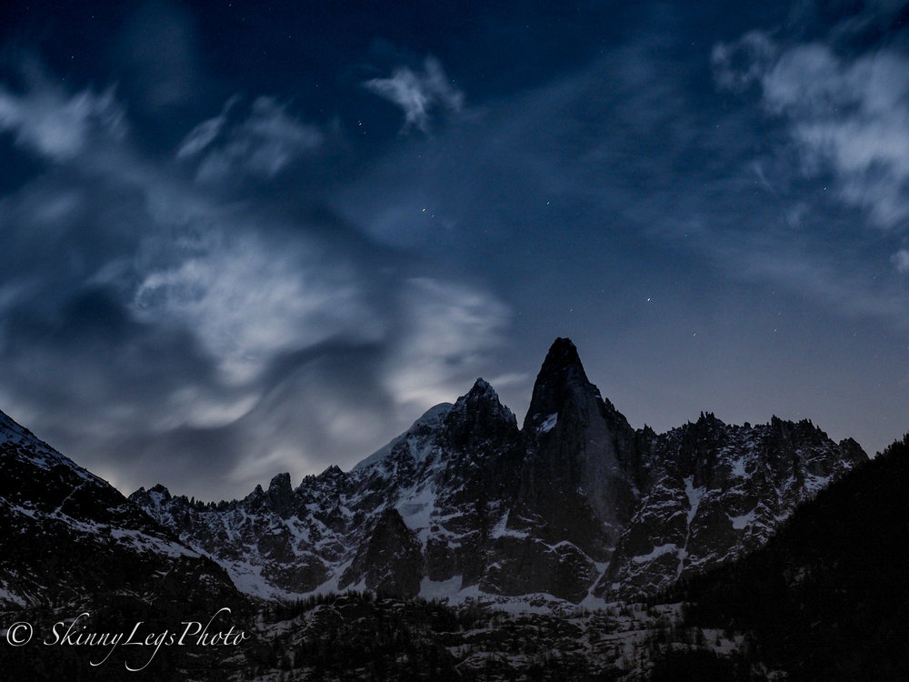 Les Drus at Night