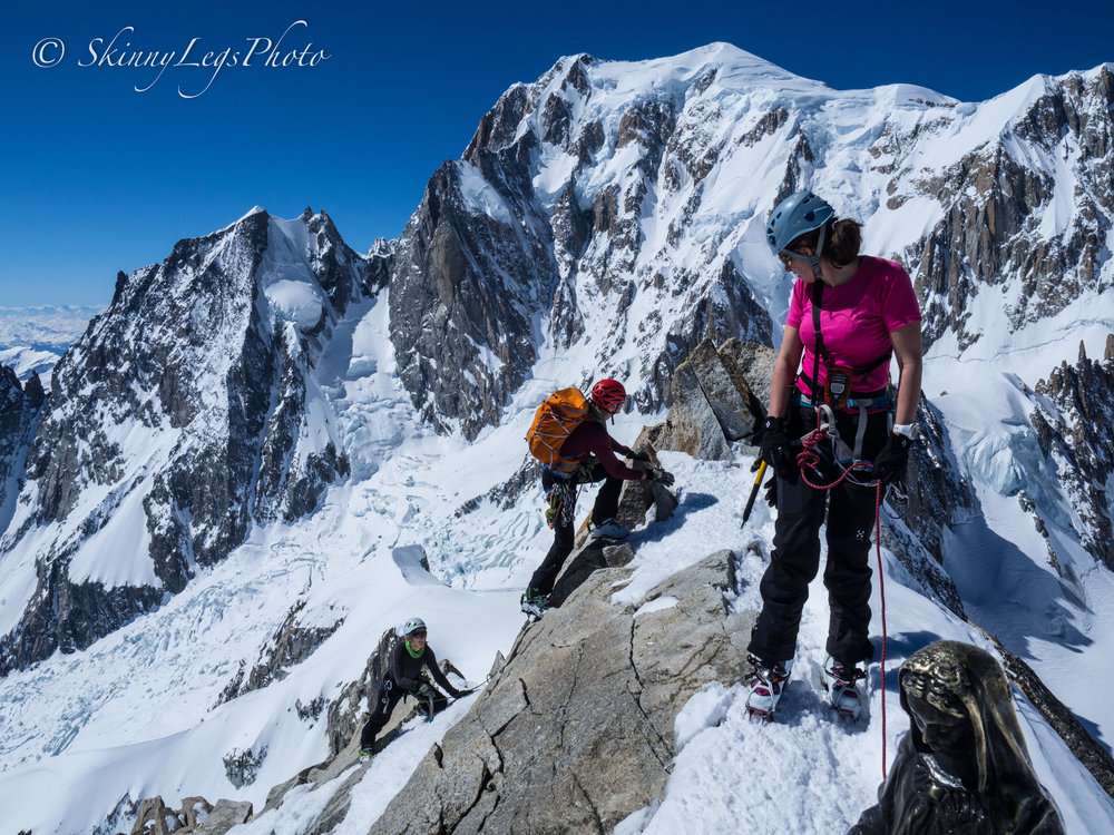 Georgie, Jack and Emily summiting the Tour Ronde