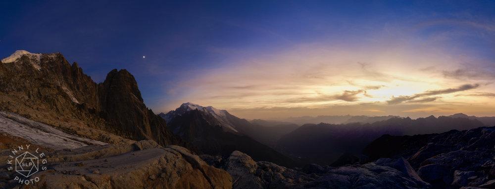 Aiguille Verte, Les Drus, Mont Blanc