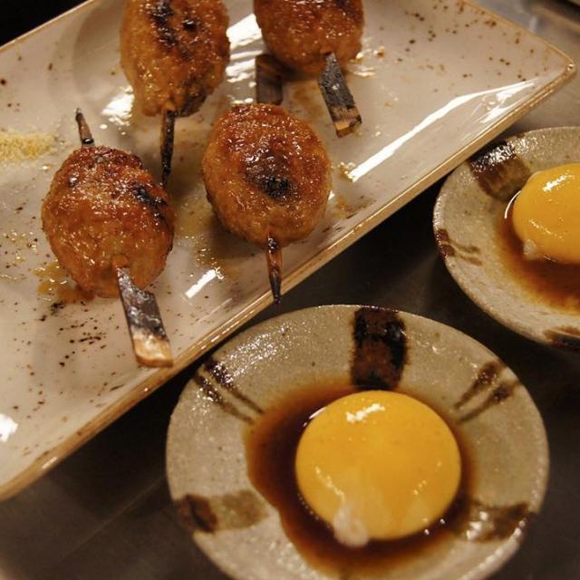Tsukune w/ Egg Yolk
