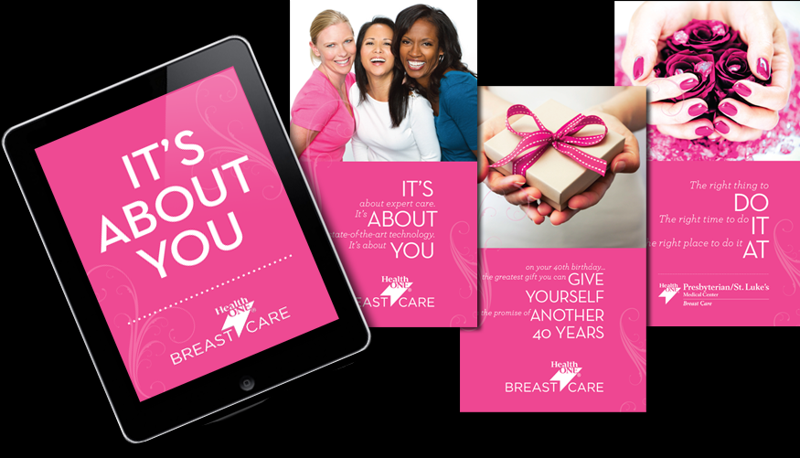 Breast cancer awareness campaign for HealthONE medical system