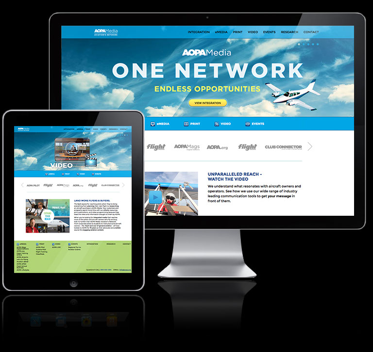 Web site media kit for AOPA Media group
