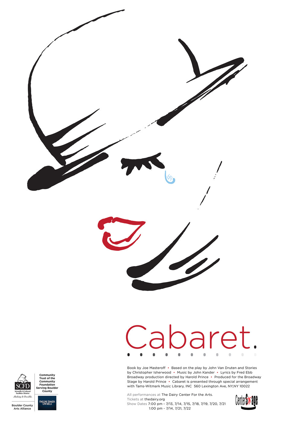 Poster promoting Cabaret the musical