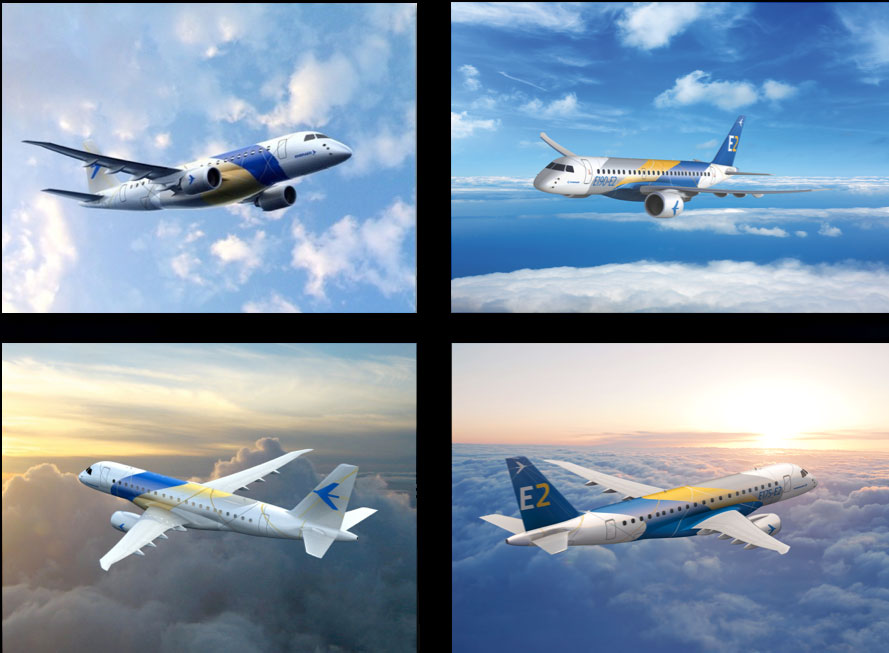 Embraer aircraft livery designs (Created in partnership with Grace Dickerson Marketing Consultancy)