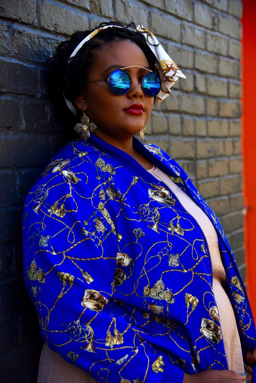 Vintage Blue and Gold Jacket.