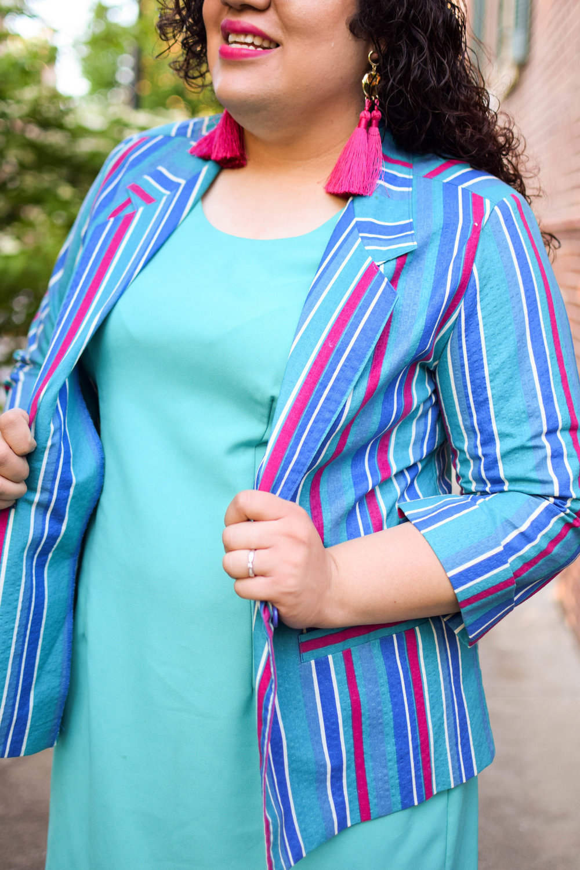 The Cotton Candy Striped Blazer.