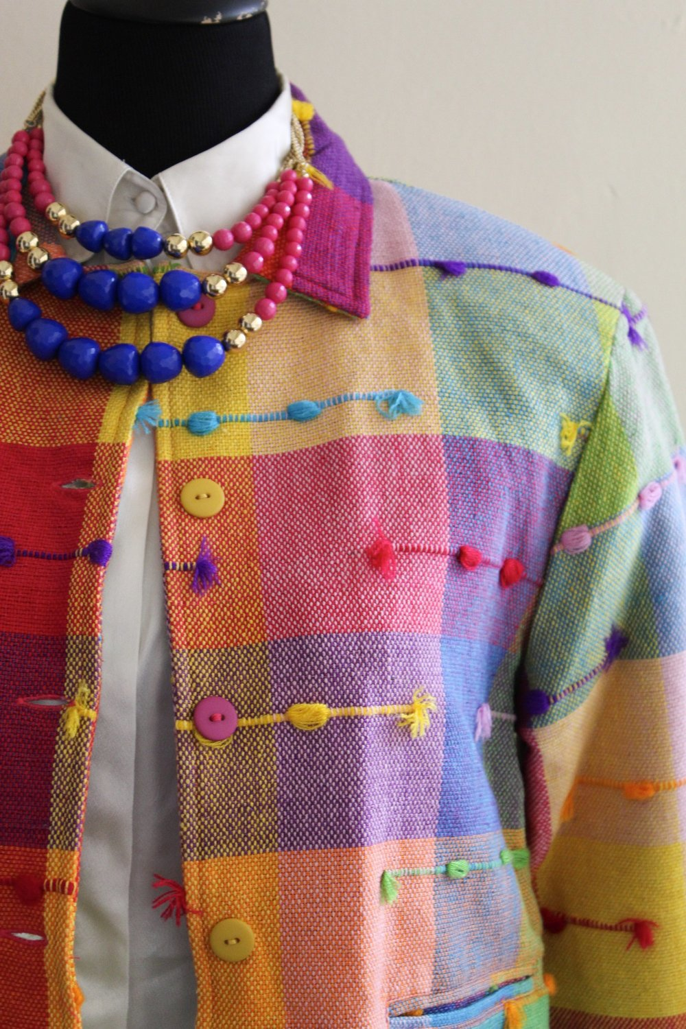 Multi-Colored Fun Patterned Jacket.