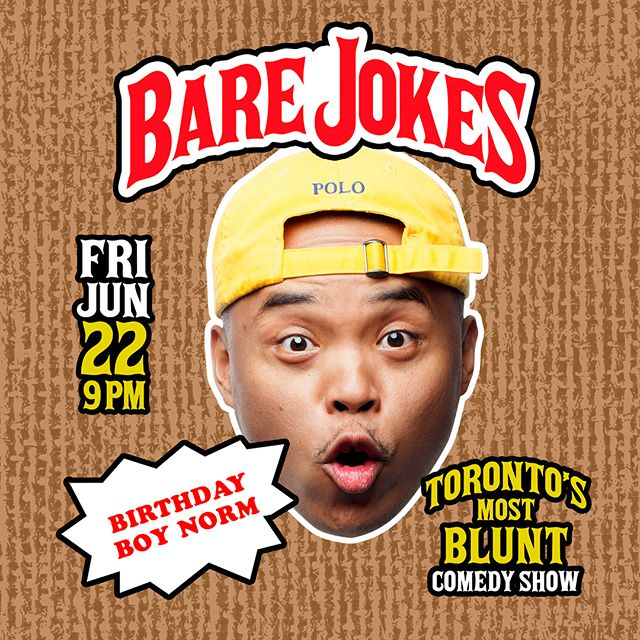 My birthday is approaching and I want all y'all to come celebrate with me and the crew at my new comedy show series BARE JOKES!  We got the illest comics on deck...in a 420-Blackwoods-friendly loft space. Vibes are gonna be on high...literally........😜😜😜 ———————————-—————— For tickets, click on the link in my bio or DM me. ———-—————————————— @barejoketings  @keithpedro  @snapshotrobinson  @teemair  @gjpartyhugs —————————————— #toronto #barejokes #funny #hilarious #comedy #standup #420 #blunts #6ix #6ixbuzztv #backwoods #weed #marijuana #jokes #hahaha #seen @thegoodiesshow