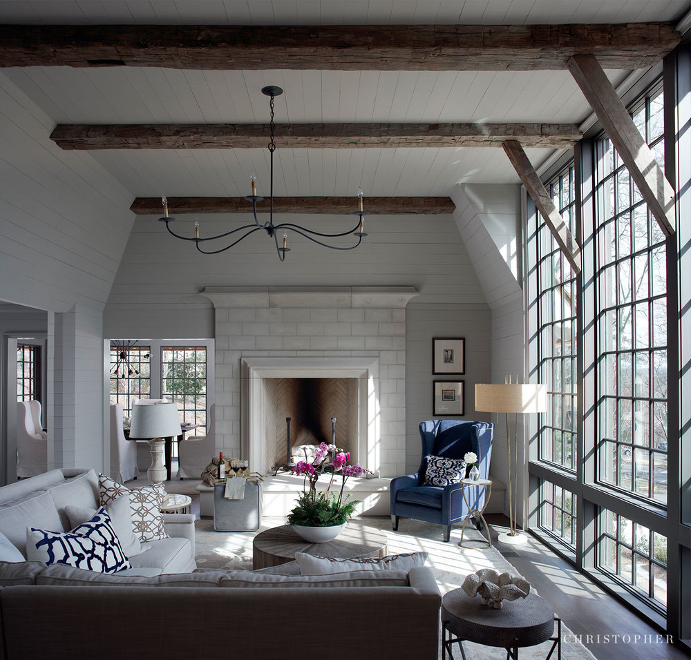 Transitional Estate - great room