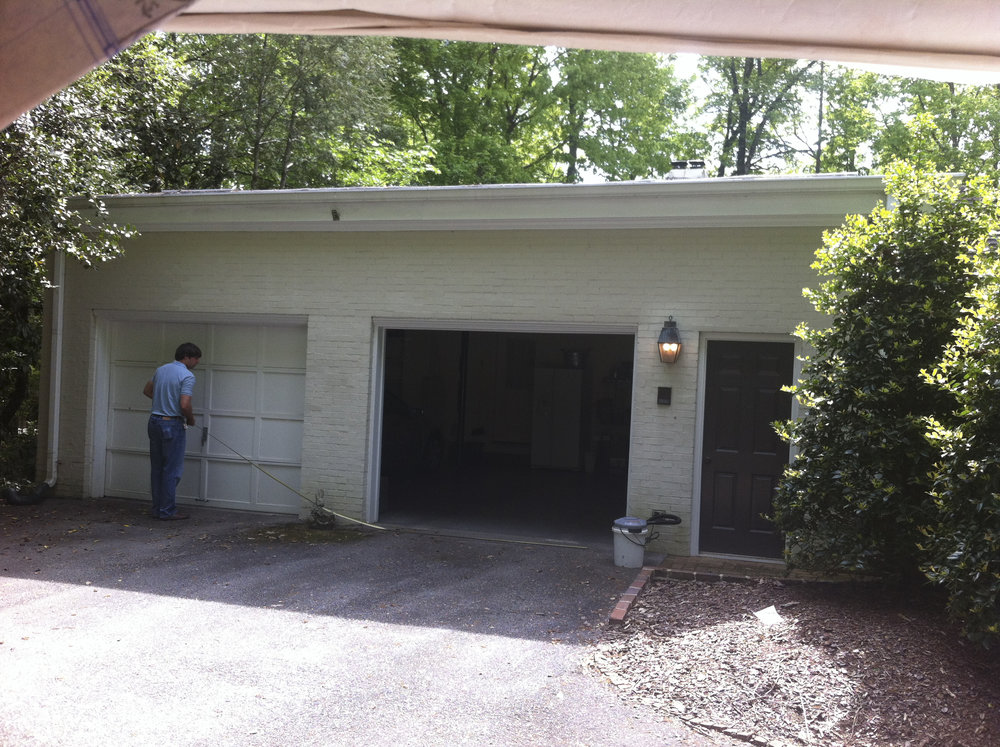 French Provincial garage - before