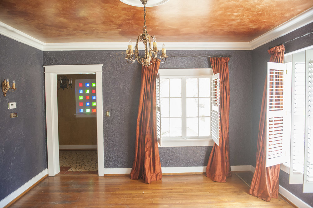 Spanish Colonial Dining Room Before