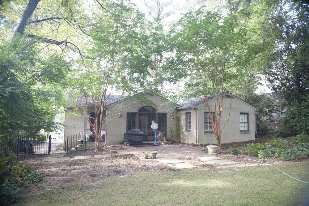English Cottage Renovation back yard - before