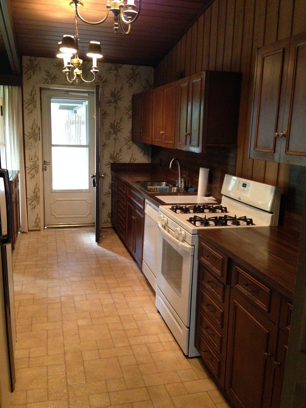 Mid Century Modern Kitchen butler's pantry - before