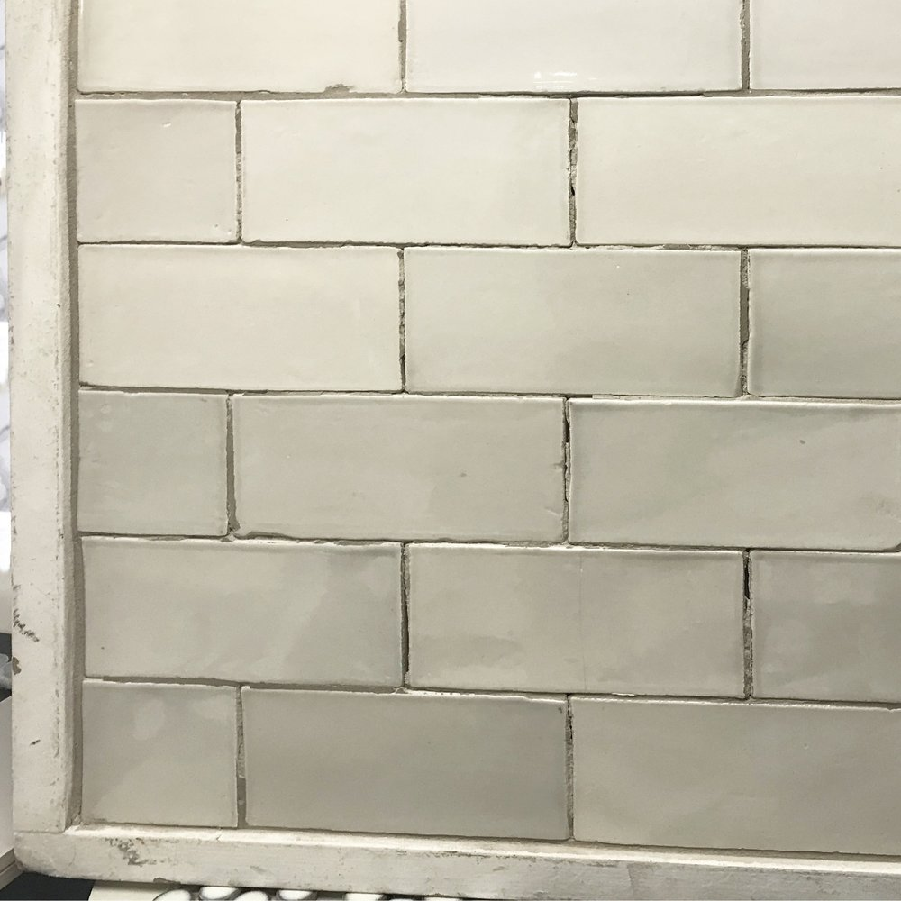 Pearl Ash Gloss Handmade Subway Tile for shower walls and ceiling