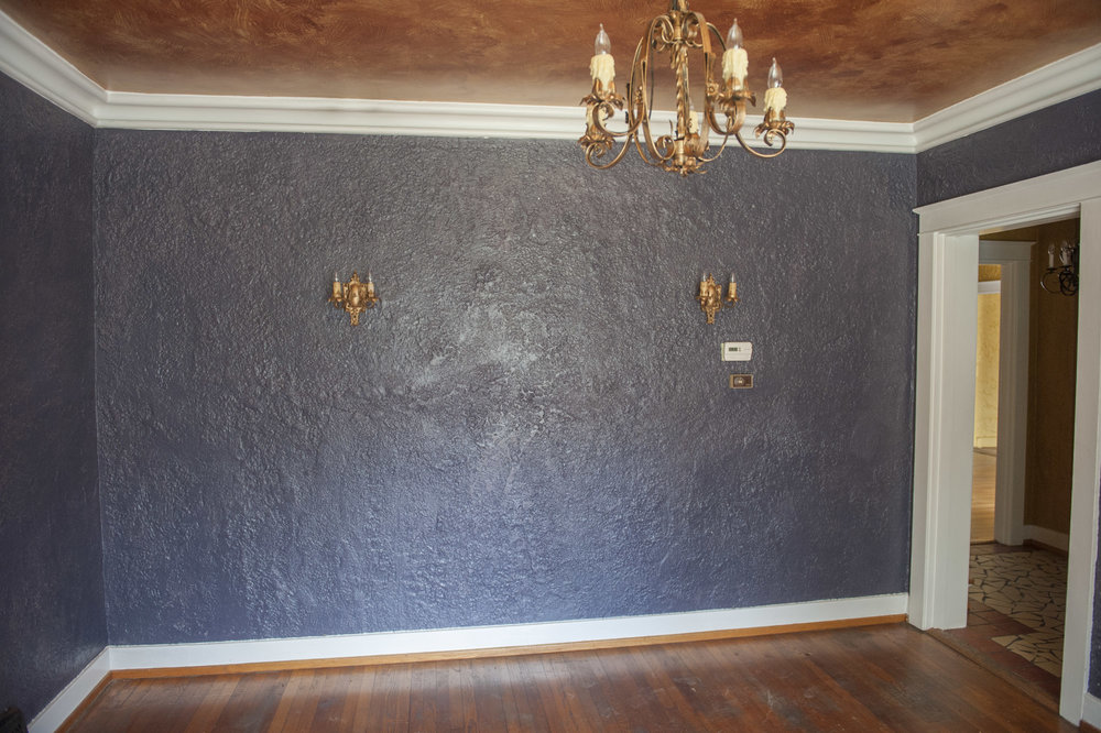 Spanish Colonial dining room-before