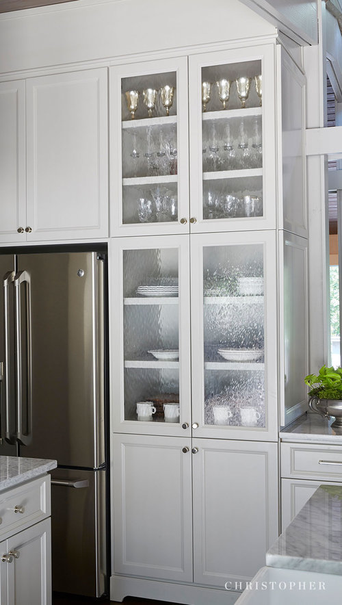 Mid Century Modern Kitchen Glass Cabinet Doors