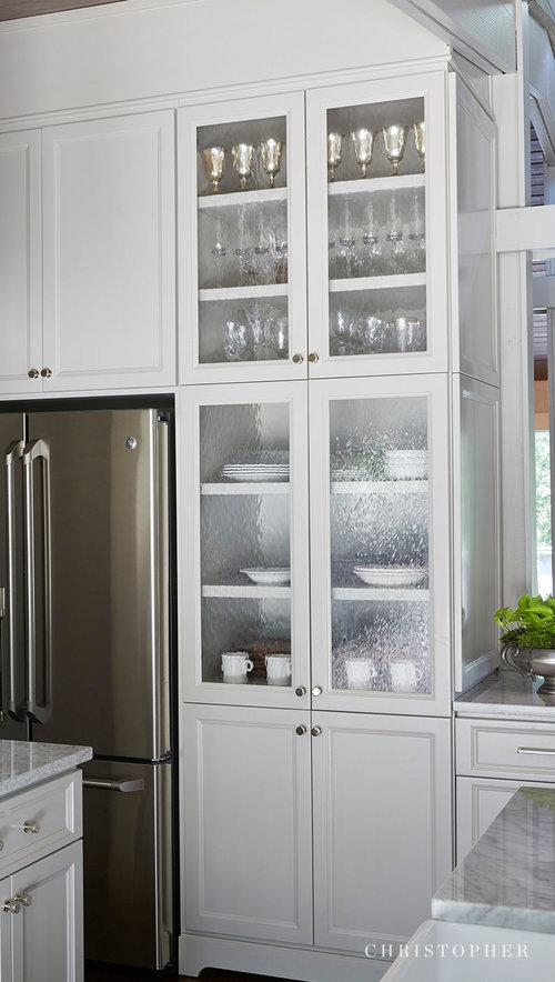 Mid Century Modern Kitchen Glass Cabinet Doors