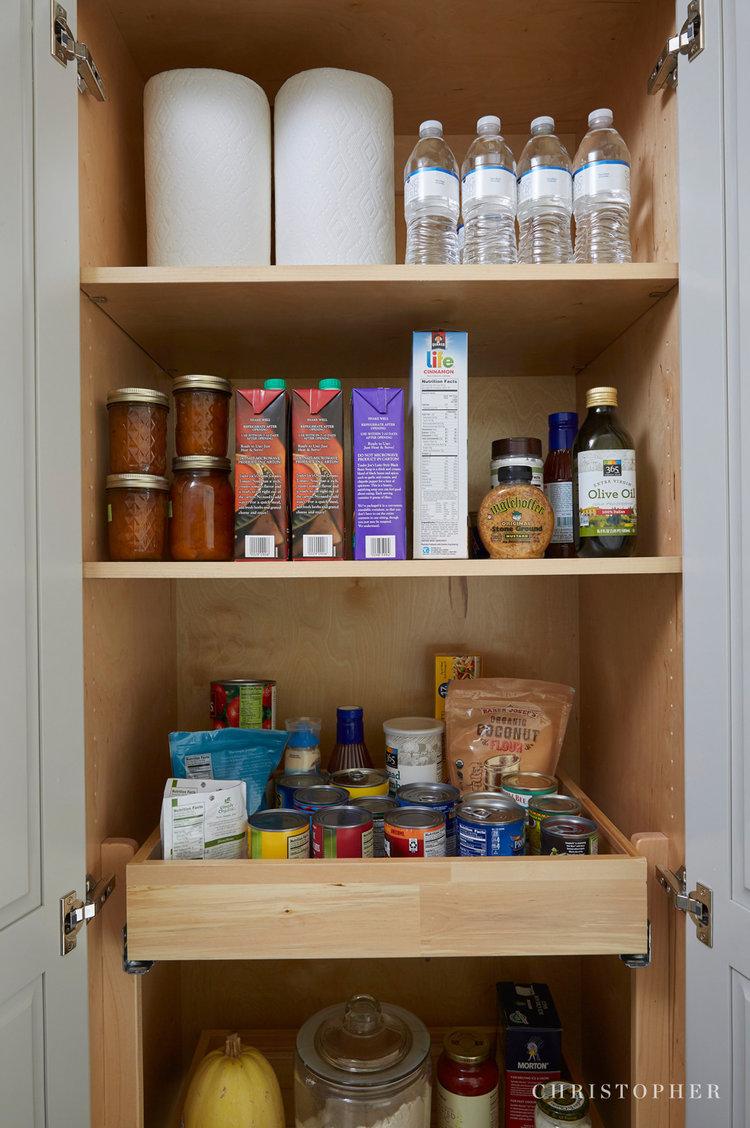 Mid Century Modern Kitchen-organized pantry storage.jpg