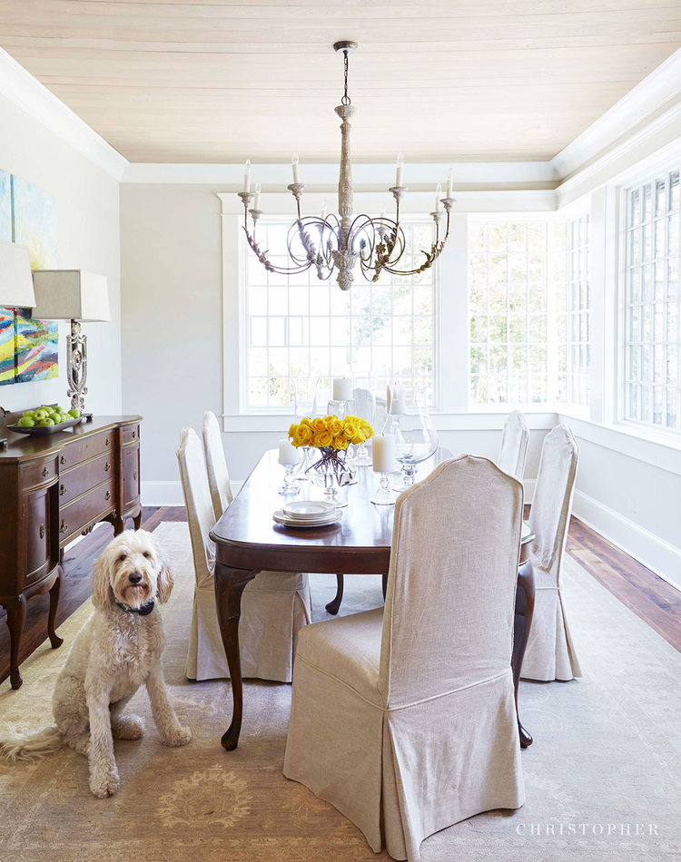 French Country Cottage-dining room with dog.jpg