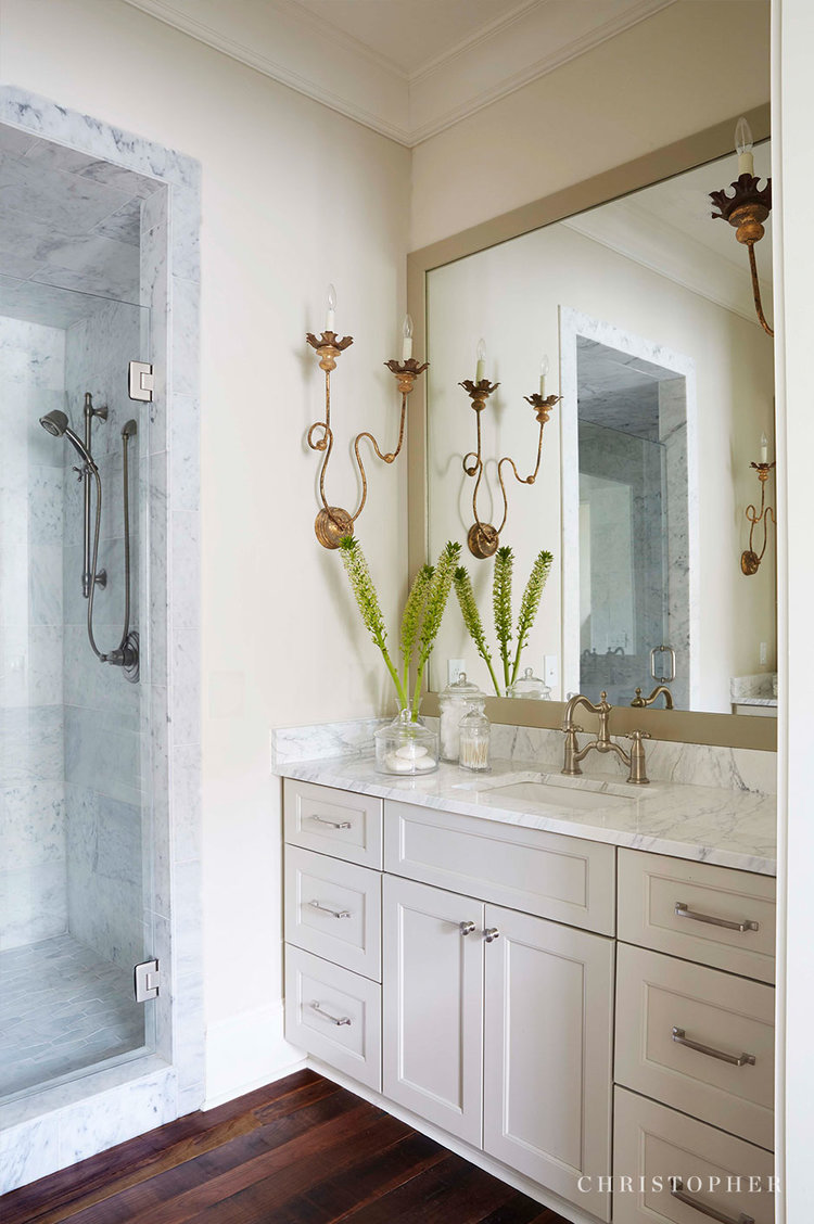 French Country Cottage-master bath vanity and shower.jpg