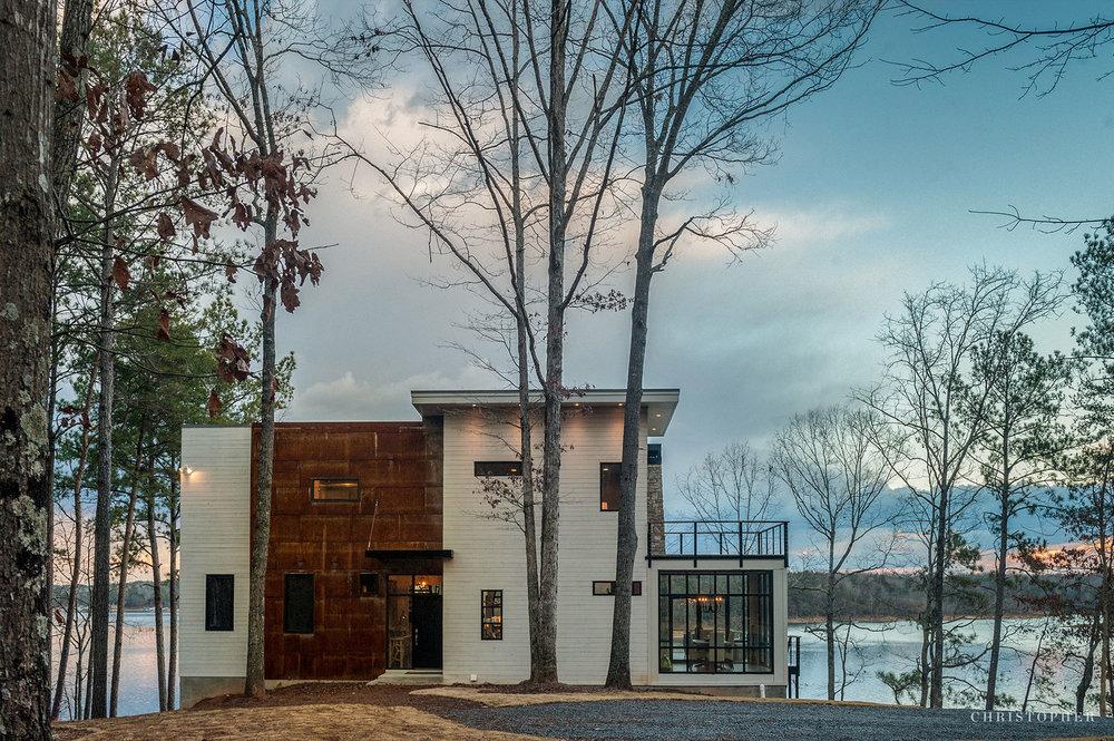 Rustic Modern Lakehouse-front elevation.jpg