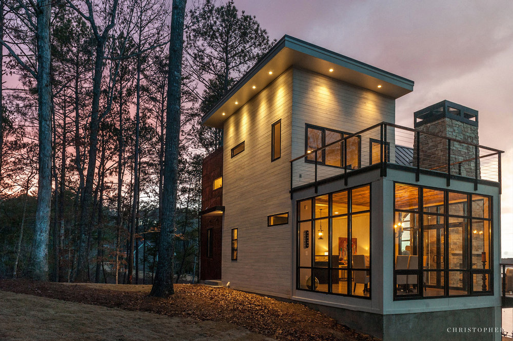 rustic modern lakehouse christopher architecture and interiors