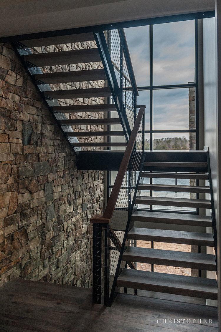 Rustic Modern Lakehouse-stairway.jpg
