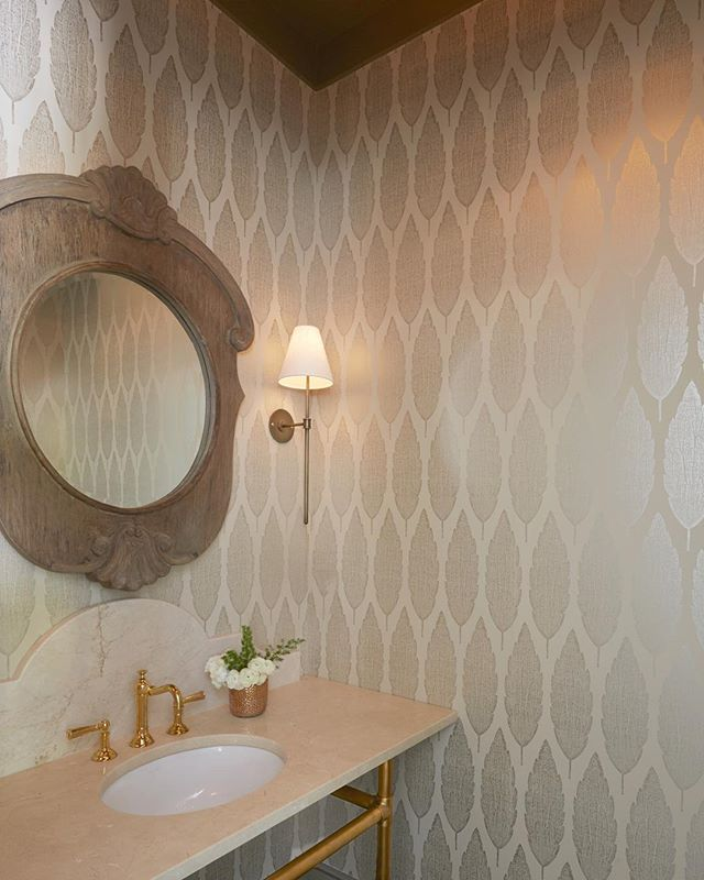 Don't overlook the smaller spaces in your home. Powder rooms provide an opportunity to add that extra touch of elegance. #achristopherhome