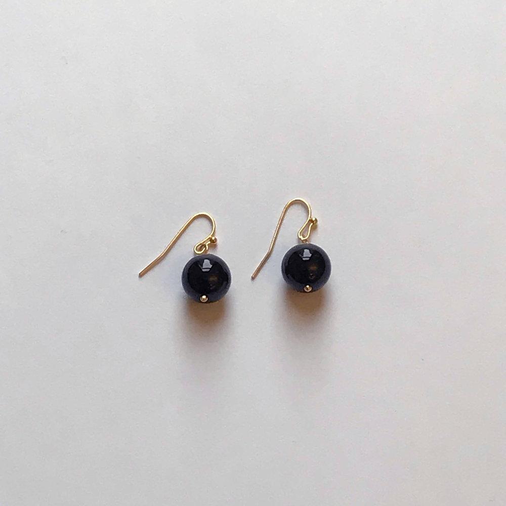 $50 Gold Filled Black Onyx Earrings