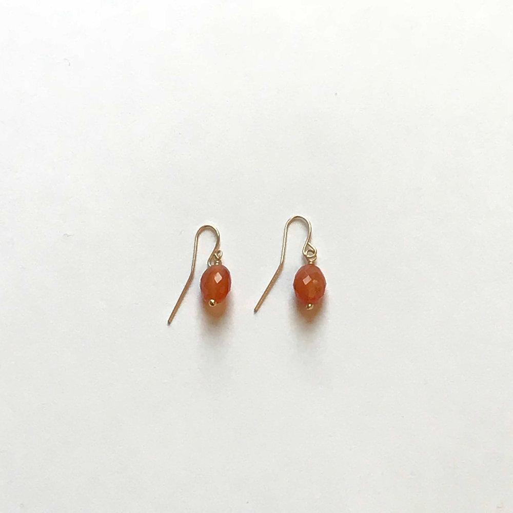$55 Gold Filled Carnelian Earrings