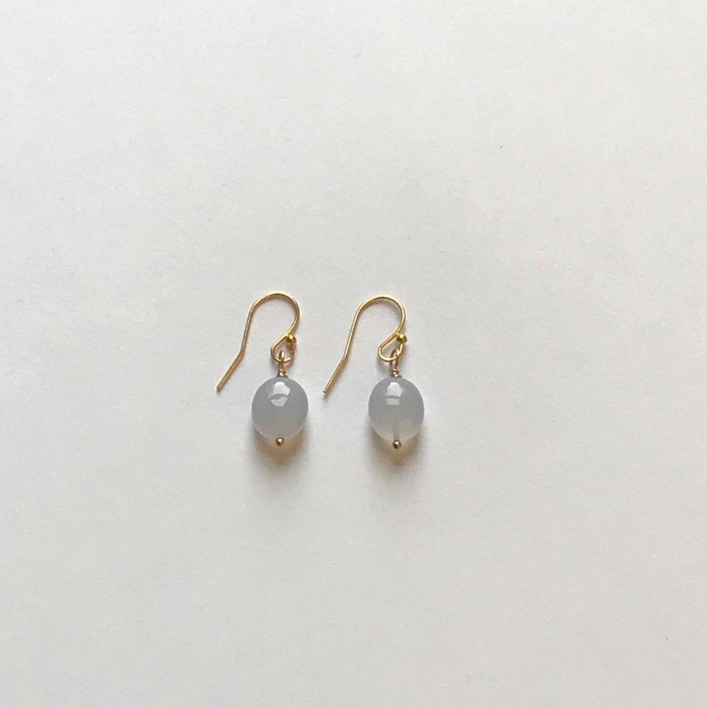 $50 Gold Filled Chalcedony Earrings