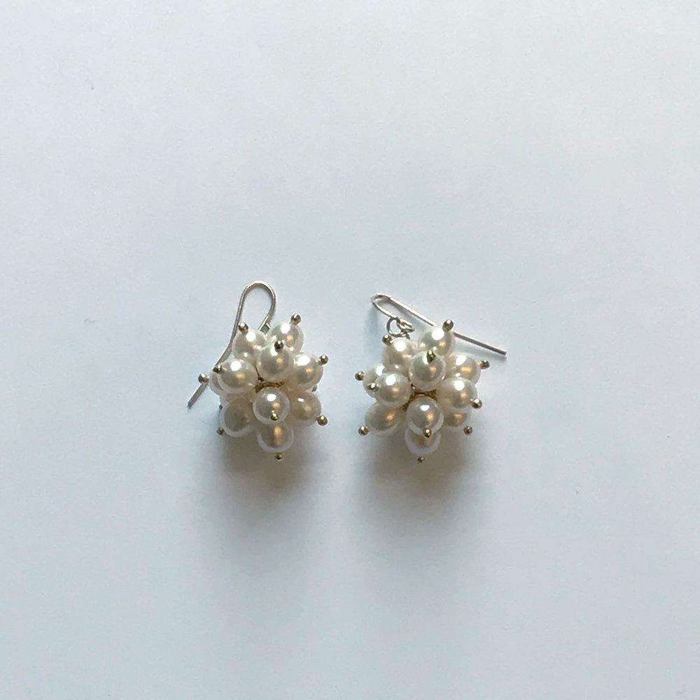 $350 Gold Filled Cream Fresh Water Pearl Earrings