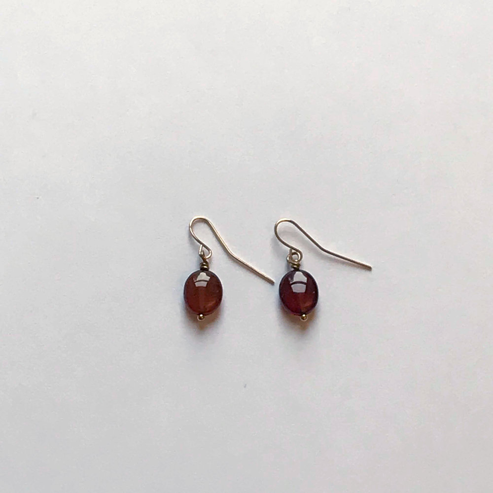 $75 Gold Filled Garnet Earrings