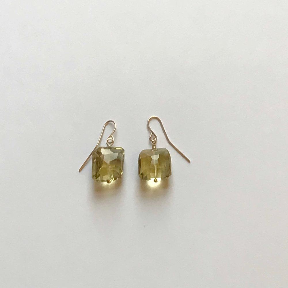$125 Gold Filled Lemon Topaz Earrings