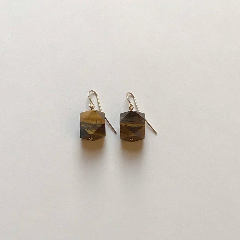 $50 Gold Filled Tigereye Earrings